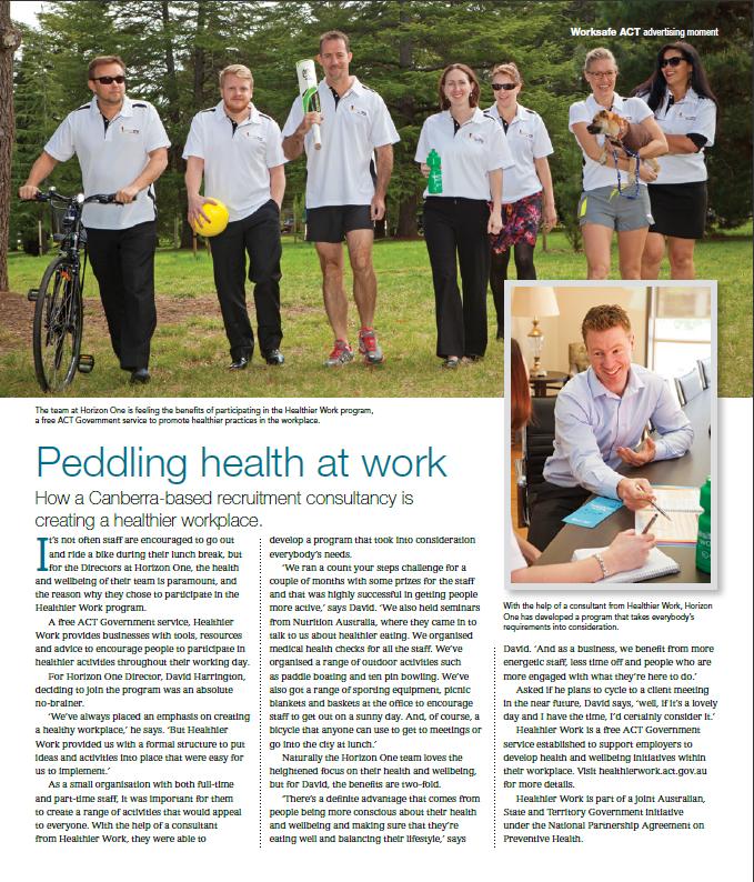 canberra weekly - healthier work