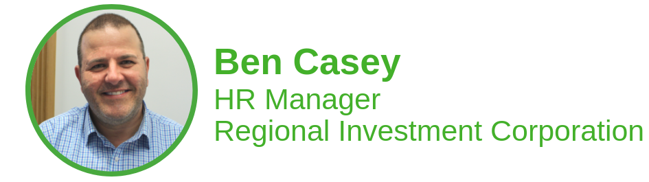 Orange is the new Sydbey! My RIC story. HR Manager Ben Casey was one of the first staff on board when the Regional Investment Corporation opened its doors in Orange in January this year. A career HR professional, Ben was a Sydneysider through and through.