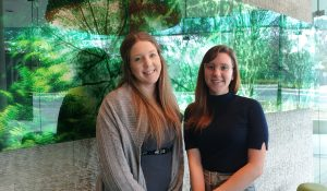 June Contractor of the Month Keira Beattie with Sarah Tamasi