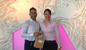 HorizonOne Consultant, Lucas Walker, with September Contractor of the Month, Sarah Harrex
