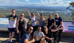Team at the top of Mt Ainslie
